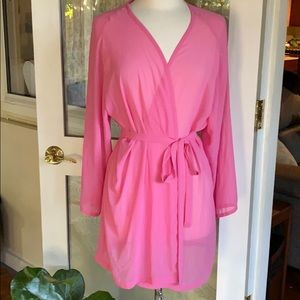Perfect Victoria's Secret Sheer Pink Robe